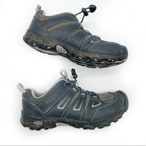 KEEN YOUTH HIKING / WALKING LEATHER SNEAKERS